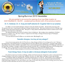 Allergy Specialist Crystal Lake - Spring 2013 Newsletter
