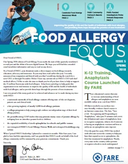 Food Allergy Focus, Issue 5 Spring 2018
