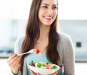 Young Lady Taking a Healthy Diet